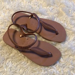 Havaianas Flash Dusty Rose Gold Sandal